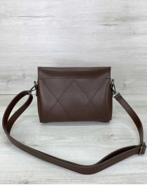 Женская сумка «Стелла» шоколадная