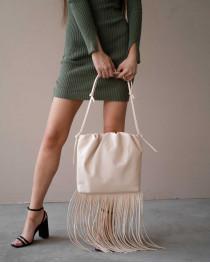 Женская сумка «Пипер» бежевая