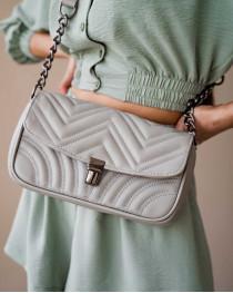 Женская сумка «Джуди» серая