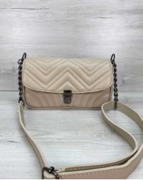 Женская сумка «Джуди» бежевая