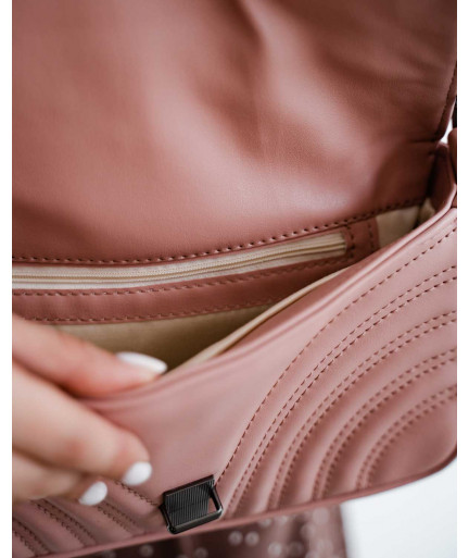 Женская сумка «Джуди» пудровая