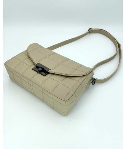 Женская сумка «Ронни» бежевая