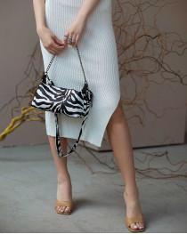 Женская сумка «Лойс» зебра