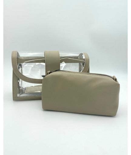 Женская сумка «Гвен» бежевая