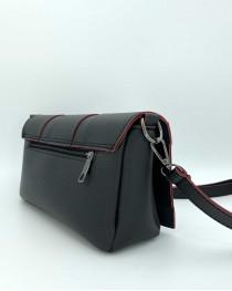 Женская сумка «Ирма» черная с красным