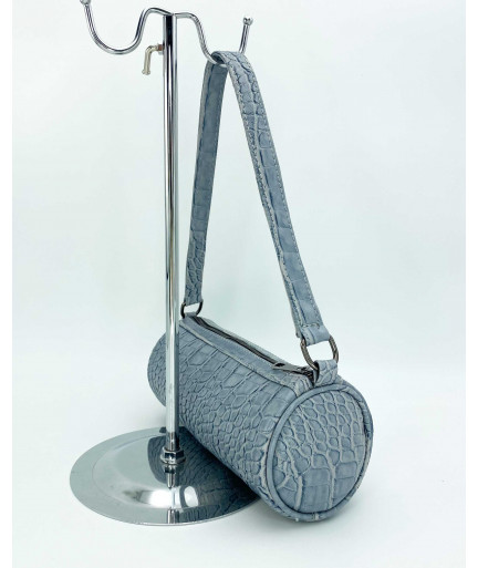 Женская сумка «Бэтс» оптом серо-голубая