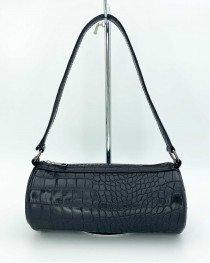 Женская сумка «Бэтс» черный крокодил
