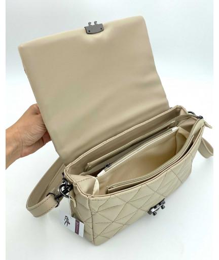 Женская сумка «Обри» кофейная