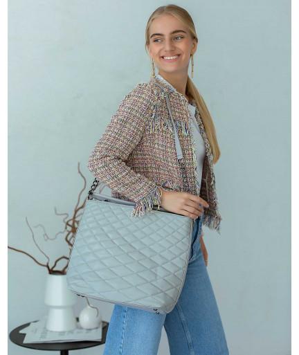 Женская сумка «Эрмин» серая