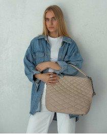 Женская сумка «Эрмин» бежевая