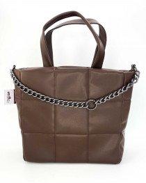 Женская сумка «Дэйна» шоколадная