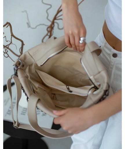 Женская сумка «Дэйна» оптом бежевая от производителя