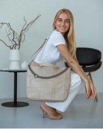 Женская сумка «Дэйна» бежевая