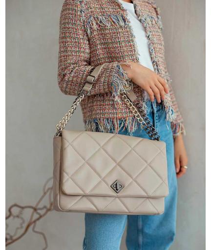 Женская сумка «Дженис» бежевая