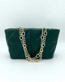 Маленькая женская сумка «Холли» зеленая