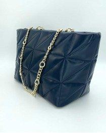 Женская сумка «Саманта» темно синяя