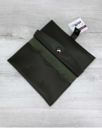 Женский кошелек оливковый