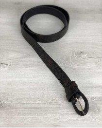 Ремень коричнево-черная змея