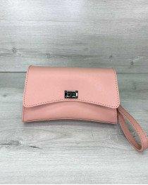 Женская сумка «Пэт» пудровая