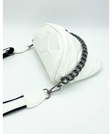 Женская сумка «Пеги» белая