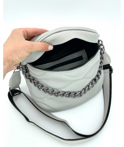 Женская сумка «Пеги» серая