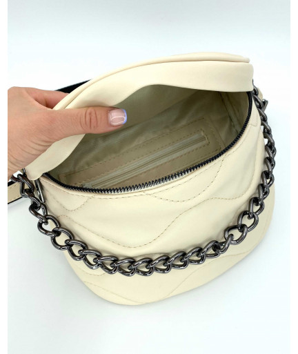 Женская сумка «Пеги» бежевая
