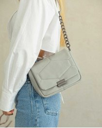 Женская сумка «Санди» серая