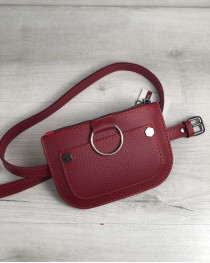 Женская сумка на пояс Кэти красного цвета