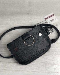 Женская сумка на пояс Кэти черного цвета