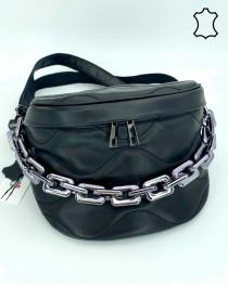Кожаная сумка оптом «Pegy» черная