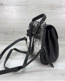 Рюкзак женский «Chris» черно белый