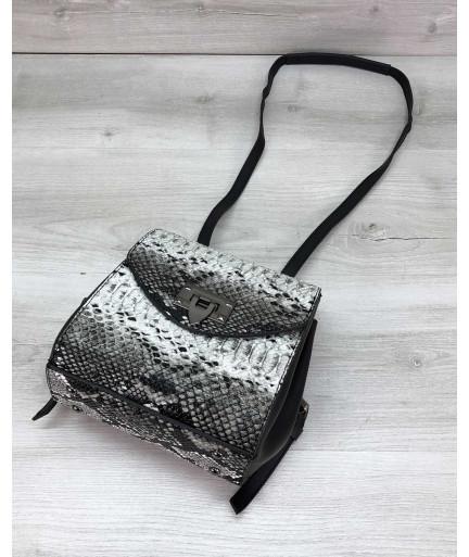 Сумка рюкзак «Chris» черно белый