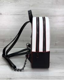 Рюкзак «Marcy» черно-белый с красным