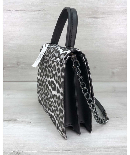 Женская сумка Lana черно-белая
