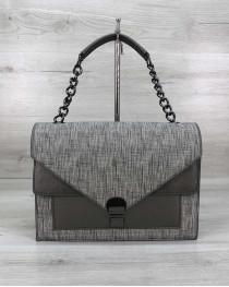 Стильная сумка Amber серый блеск