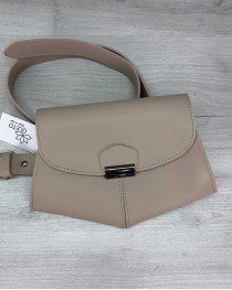 Женская сумочка на пояс клатч «Demi» бежевая