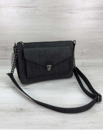 Стильная сумка  Rika черный блеск