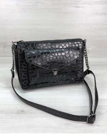 Стильная сумка  Rika черный лак