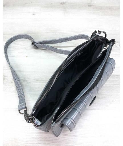 Стильная сумка  Rika серо-голубая