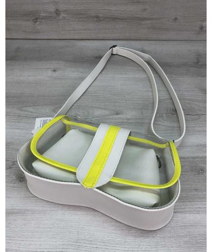 Женская сумка 2 в 1 «Miranda» белая