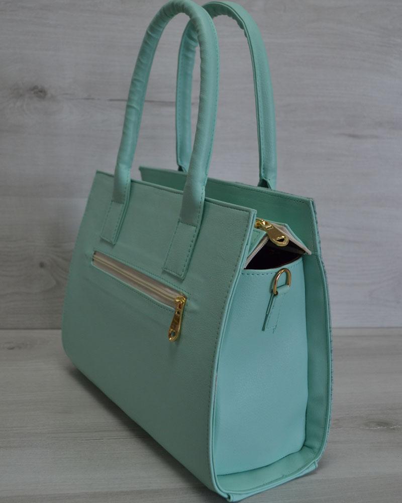 503ac75a63aa Каркасная женская сумка Селин цвета ментол оптом арт.31204 | WeLassie