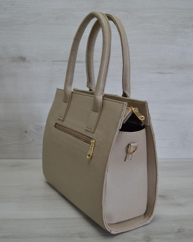 afdd7ff31609 Каркасная женская сумка Селин темного бежевого цвета оптом арт.31205 ...