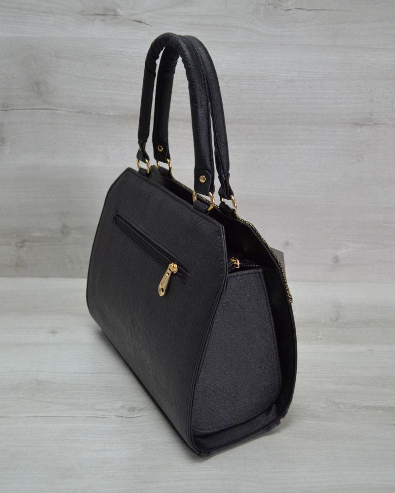e7b16a244585 Женская сумка Конверт черная с золотом оптом арт.31805   WeLassie