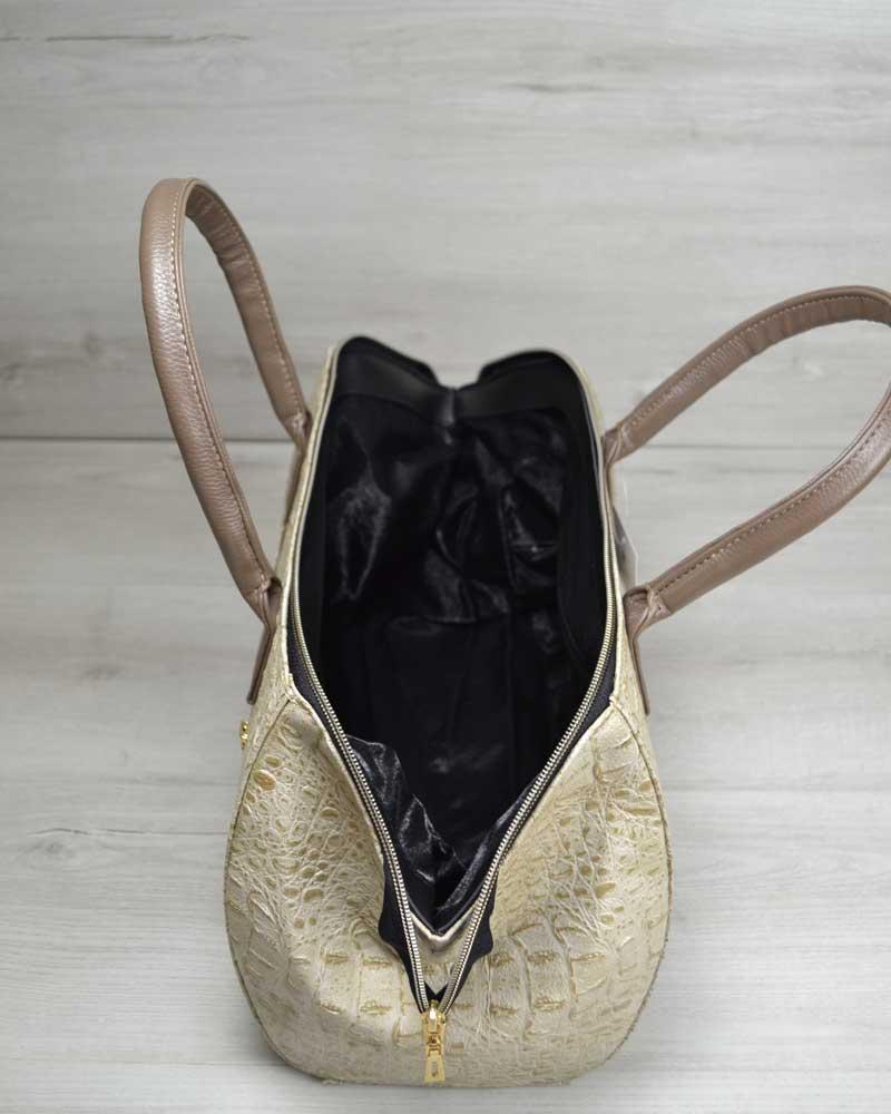 b16b82323dd7 Классическая женская сумка Оливия бежевый крокодил оптом арт.31901 ...