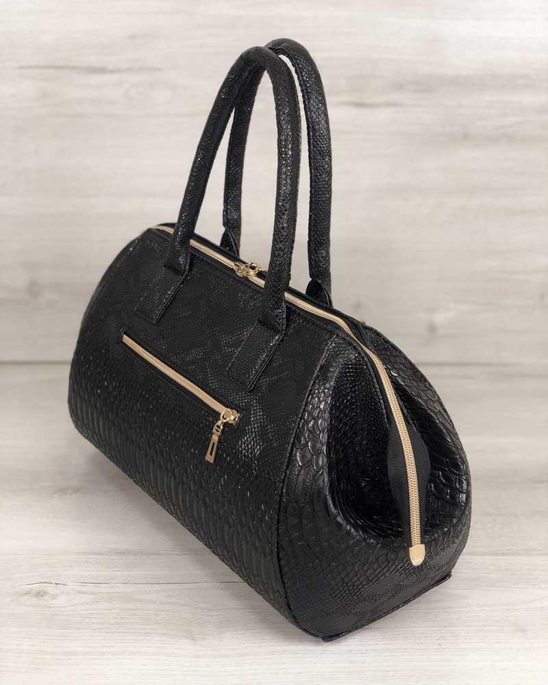 17e5e4942a4b Классическая женская сумка Оливия черная рептилия оптом арт.31909 ...