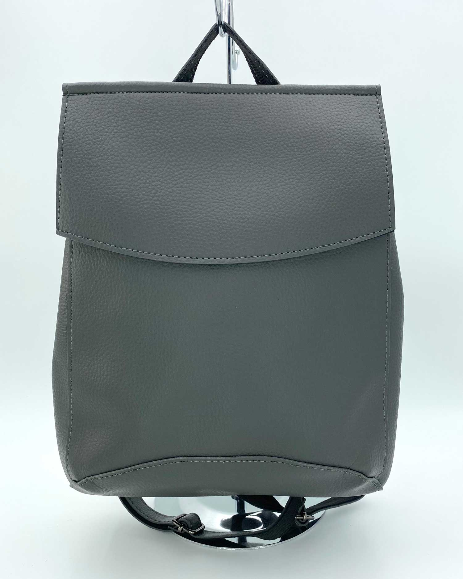 Молодежный сумка-рюкзак серого цвета