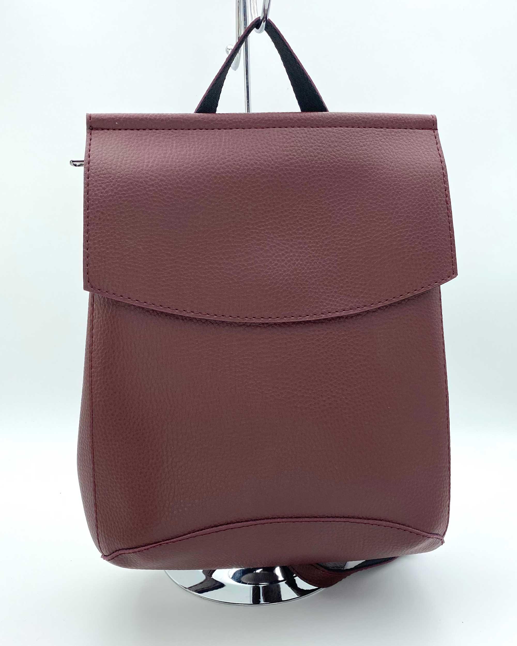 Рюкзак молодежный женский  бордового цвета