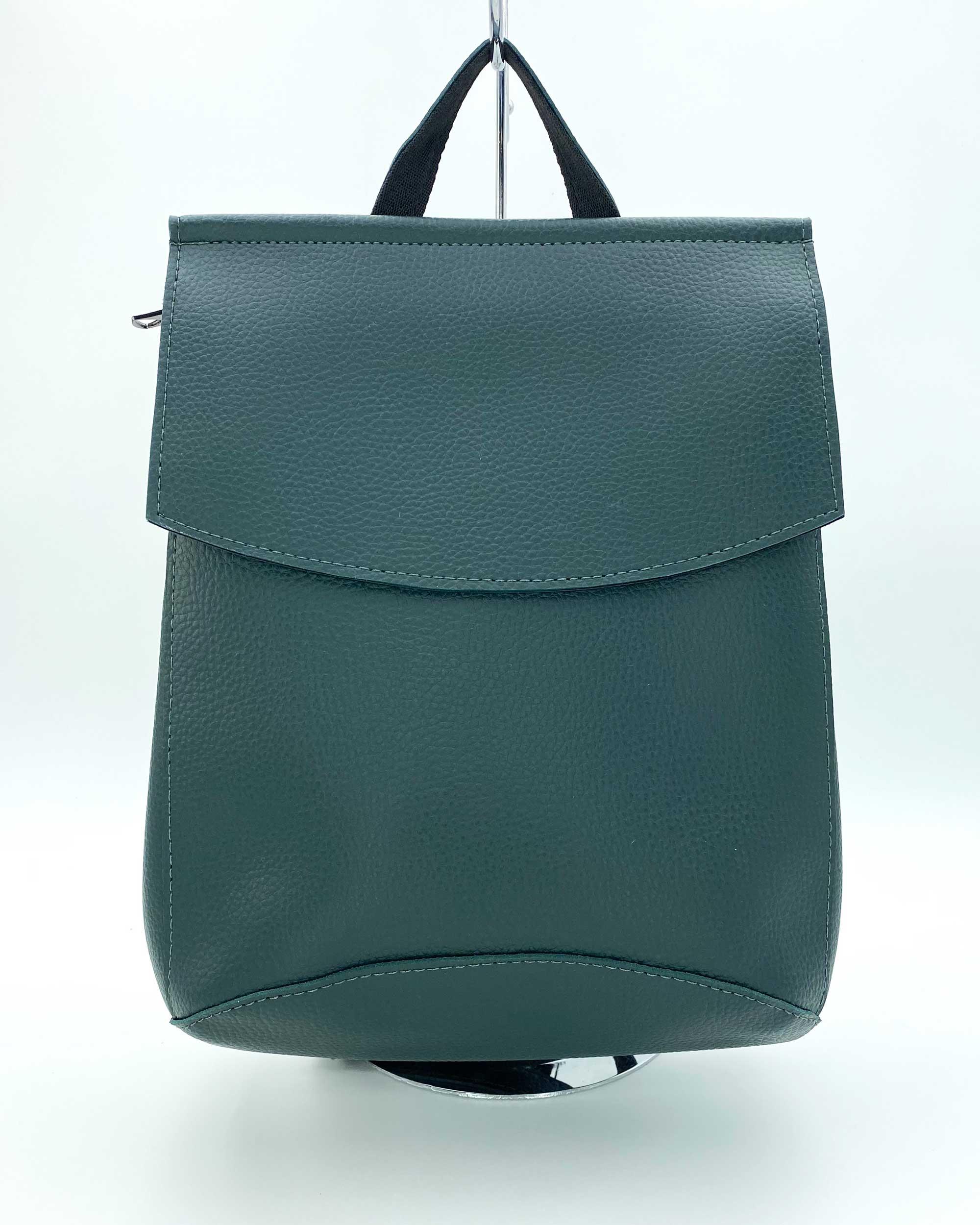 Молодежный женский рюкзак зеленого цвета