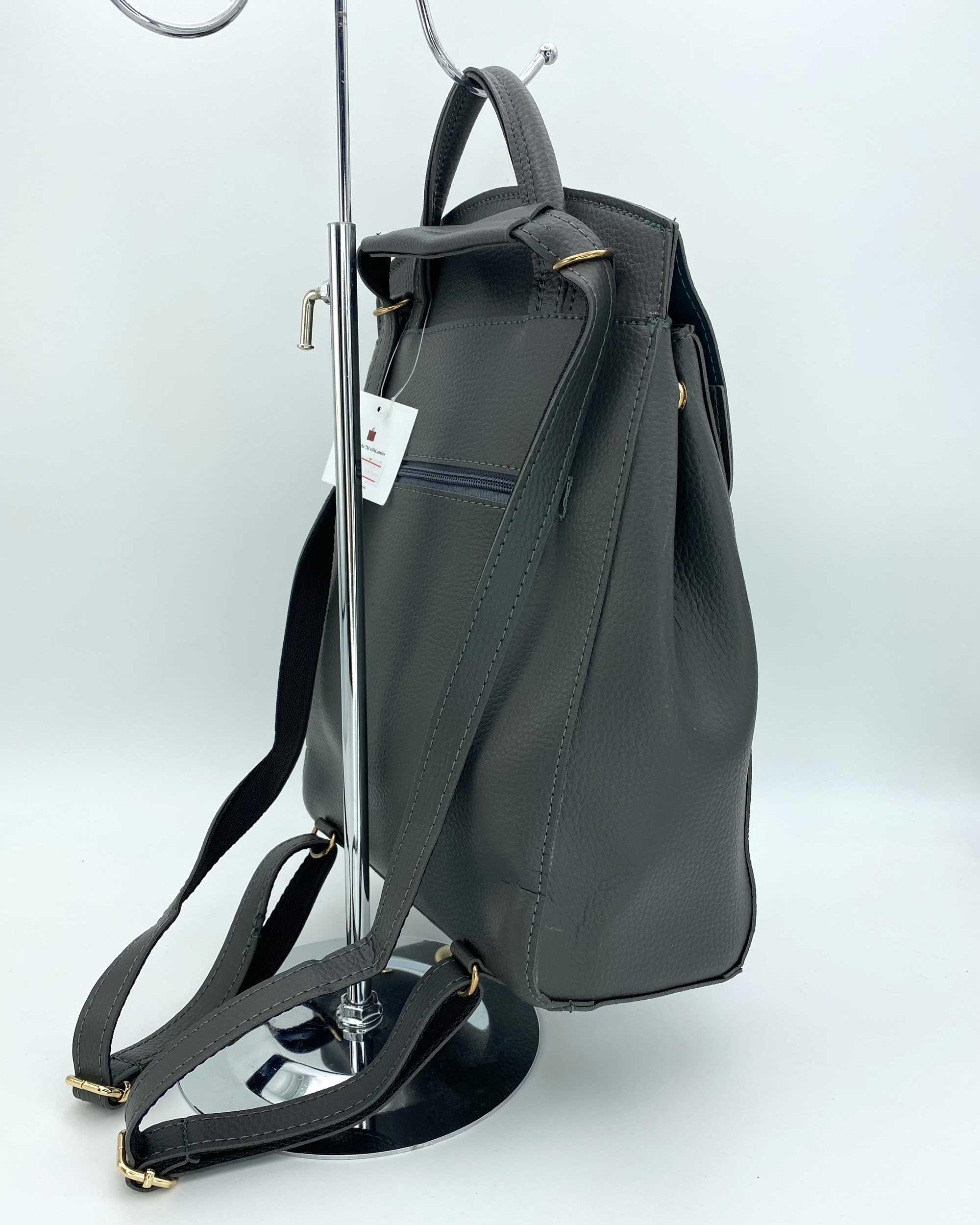 4e301e3c8a66 Молодежный сумка-рюкзак Сердце серого цвета оптом арт.44601 | WeLassie