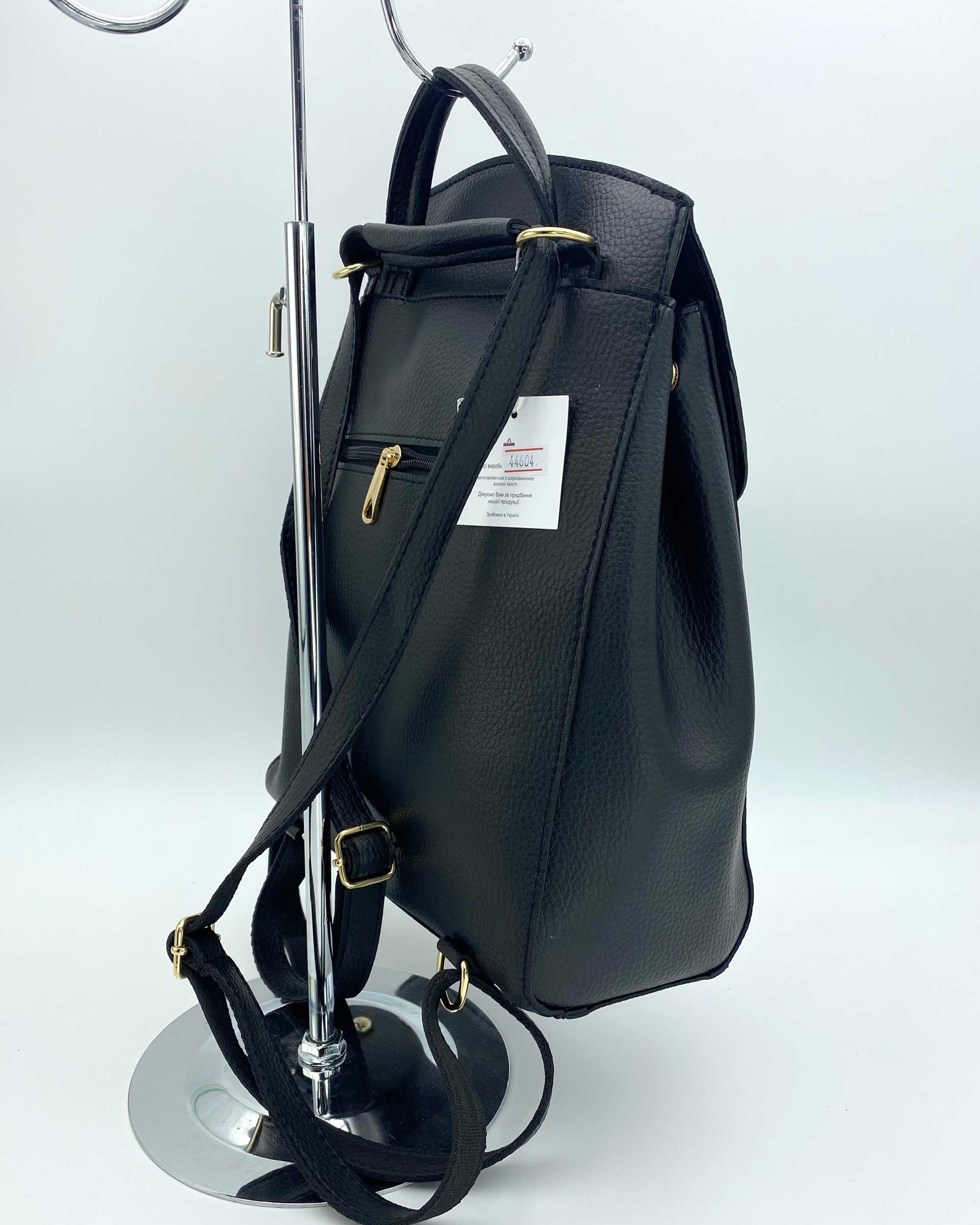 5b5a616eb70e Молодежный сумка-рюкзак Сердце черного цвета оптом арт.44604 | WeLassie